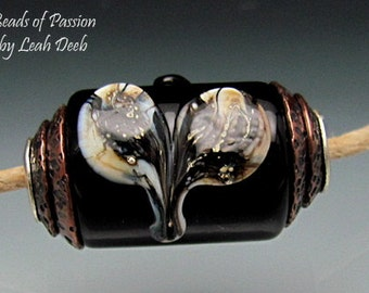 rtisan BHB Beads of Passion Leah Deeb - Capped Organic Heart Focal