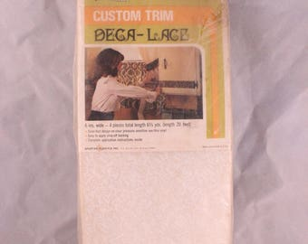 Vintage New in Package 1970's Era Custom Trim Deca-Lace for Furniture, Automobiles, Etc.
