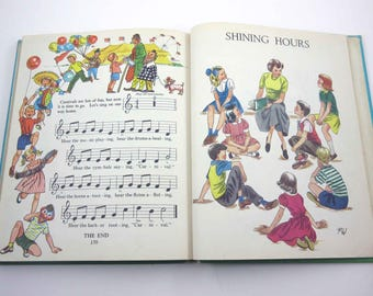 Singing On Our Way Vintage 1940s or 1950s Children's School Songbook by Ginn and Co.