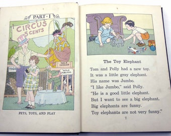 The Elson Readers Book One Vintage 1930s Children's School Reader or Textbook by Scott Foresman and Co.