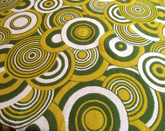 XL 70s vintage fabric by the yard (2,50m/2.7yd wide!!) for curtain or bedspread / unused / original / Italy