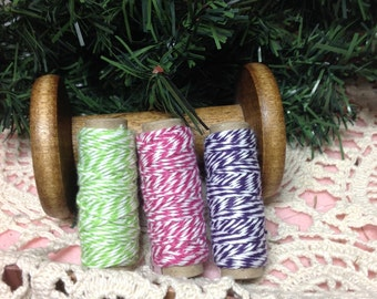 Bakers Twine Set Of Bakers Twine, Red Bakers Twine, Green Twine, Lavender Bakers twine,Cooking Supplies, Craft Twine, Chiefs Twine