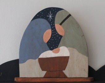 "6"" Solid Wood Nativity"