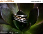 20% Off Mothers Day Sale Single Silver Raw Ring   Stacking Ring   Nature Inspired Ring