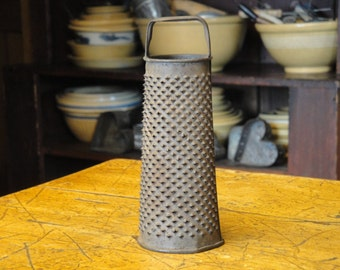 Vintage Tin Round Grater | Old Round Grater | Antique Tin Grater