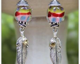 Painted Pony Lampwork Earrings