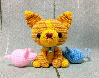 Amigurumi Cat / Crocheted Cat --- Red Tabby