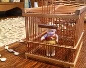 Vintage Tiny Bird Cage Bamboo