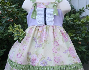 2T Girl Clothes/2T Dress/Knot Dress/Toddler Dress/2T Girl/Little Girl Dresses/Jumper Dress/Little Girl Clothes/Girls Dresses/Lavender Dress