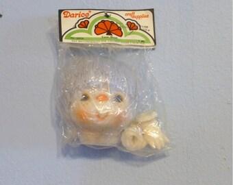 Darice 4 1/2 Inch Yarn Hair Doll Head & Hands Set