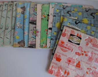 Lot of Vintage Wrapping Paper / Bridal Shower / Baby Shower / Birthday