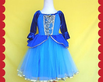 CINDERELLA dress, Cinderella costume, holiday dress, holiday princess dress,  children Princess costume, winter princess dress, Lover Dovers