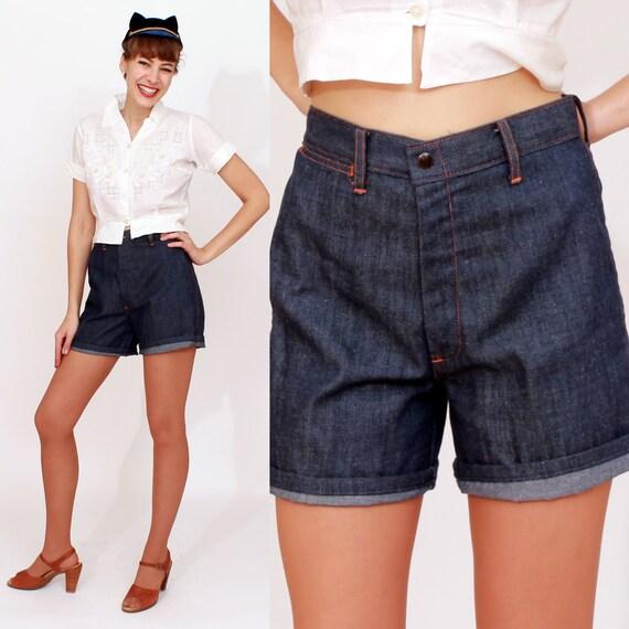 60s denim shorts