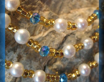 Eyeglass Holder Necklaces  Freshwater Pearls and Vintage Swarovski Crystals Pick Your Style