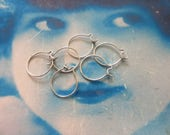 Sterling Silver Ox Plated Brass Round Ear Wires 641SOX x10