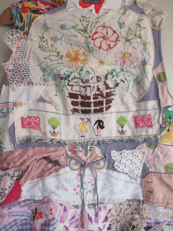 Altered upcycled vintage embroidery table linens by mybonny