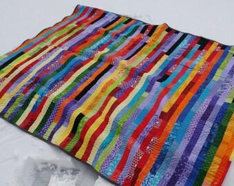 Rainbow Strip Quilt