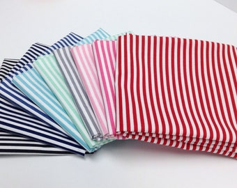 Riley Blake 1/8 inch Stripe bundle (FQ-495) - 9 Fat Quarters