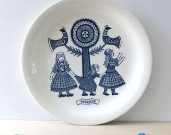 RESERVED for RACHEL  Marken. Dutch Folklore collectible plate by Royal Sphinx Maastricht. Made in Holland.