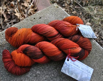 Twixt Sock Yarn - The Floor is Lava Colorway