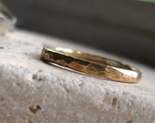 BLACK FRIDAY SALE Unisex hammered brass ring