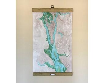 Wilmington, North Carolina Coastal Art Map