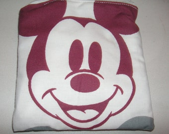 Mickey Mouse handmade fabric coin change purse card holder