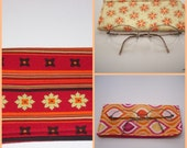 Hot Colors Red and Flame Orange Glasses Pouch Sunglass or Eyeglass Choose your print