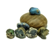 Drilled Slag Glass Stones ROUGH & TUMBLED Pebble Weathered Rustic Jewelry Glass Rocks Drilled River Rock Pendant Charms