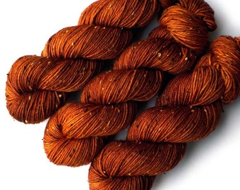 Tweedy DK Light Worsted Handdyed Yarn, Copper, 230 yards