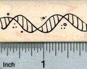 DNA Helix Rubber Stamp, Biological Science Series D32308 Wood Mounted