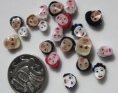 20 Handmade lampwork multicultural face murrini slices 104 coe - SRA free postage NM G01