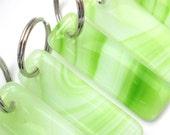 Green stripe key ring, gl...
