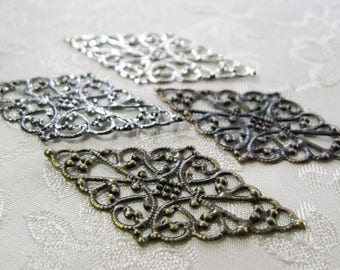Diamond Filigree Pendants Lead Free Mix and Match Finish 25mm x 45mm 530