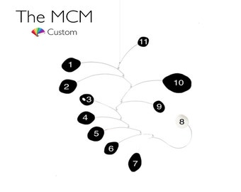 CUSTOM MCM Modern Art Mobile - YOU choose Your Colors & Size - Mid Century Modern Style