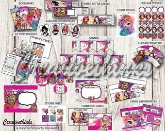 Rebel or Royal - Printable Party Package - EDIT IMMEDIATELY - Instant Download