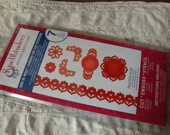 Spellbinders die set Shapeabilities doilies floral border and corners dies brand new die cutting tools scrapbooking paper crafts supplies
