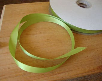 "apple green satin ribbon 5/8"" wedding craft supplies 3 yards green party crafting gift wrap embellishments sewing hair accessories supplies"