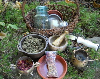 Yule Incense Recipe PDF -- Book of Shadows -- BOS page -- with instructions