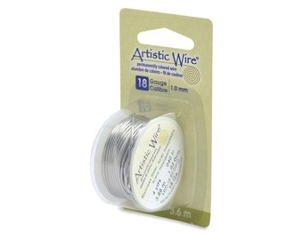 Artistic Wire 18 Gauge Stainless Steel with Dispenser 43107 Round Wire, Jewelry Wire, Craft Wire, Stainless Steel Wire, Wire Wrapping