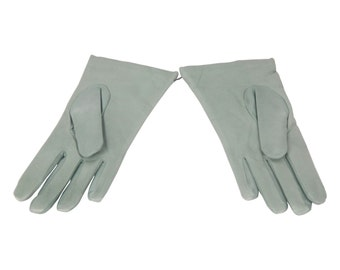SERMONETA Green Leather GLOVES w/ Cashmere Lining SIZE 7
