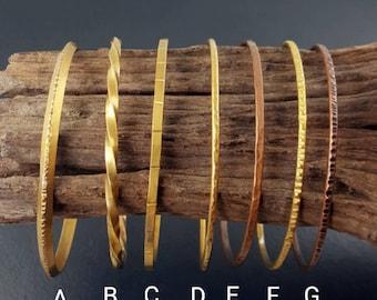 Bangles, brass, copper, stacking bangles, stacking bracelets, boho bangles, bohemian, stacking bangles, bangle bracelets, mixed metal