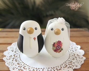 Wedding Cake Topper - Love Birds - Large