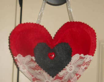 Lavender sachet Heart,,Mothers Day,hanger or NOT