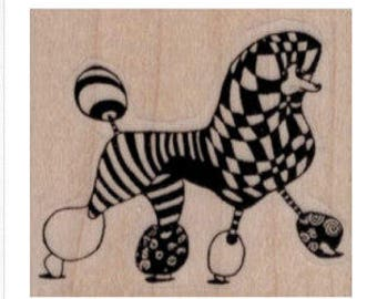 rubber stamp Zentangle poodle dog rubber stamp number 19780 stamping supplies craft stamps