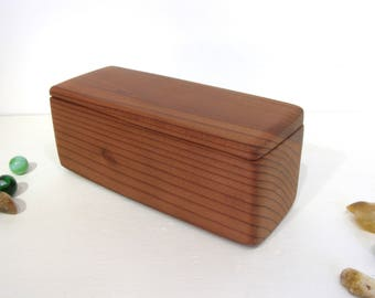 Redwood Box, jewelry box, 5th wedding anniversary, gratitude box, wood art, office desk organizer, small pet urn, wooden jewelry box