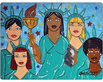 Liberty for All/Art/Sticker/Women's March/Feminism/Equality
