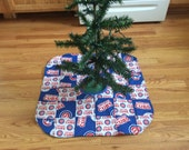 Chicago cubs quilted tree skirt