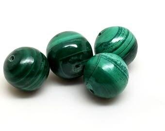 Malachite Stone Bead Vintage