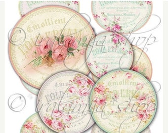 SALE VICTORIAN TAGS collage Digital Images  -printable download file-